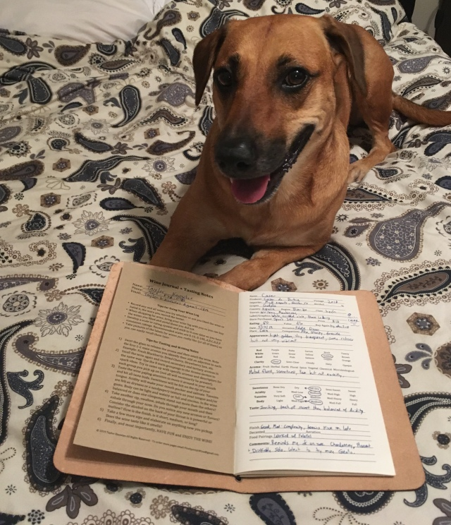 Cute Dog Reading Wine Journal